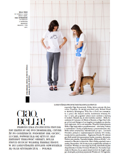 Bella Freud & Olga Szynkarczuk in conversation in the new Viva! Moda