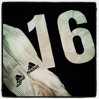 (Day 10: black & white) Off to play some futbol! #FMSphotoaday #photoadayseptember #soccerchic #futbolgirl