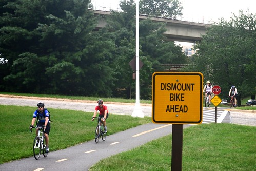 Dismount Bike Ahead