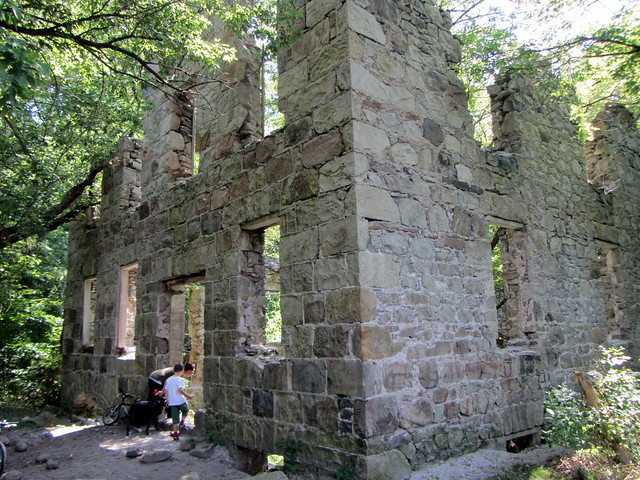 Mill ruins by trail near Glen Morris
