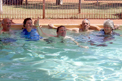 Some of the Team chilling in the pool at Pardoo