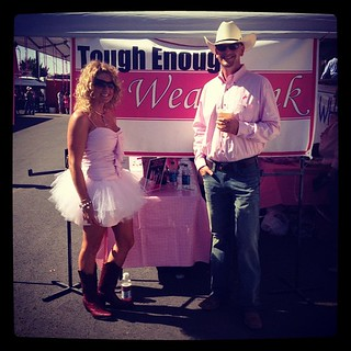 Bill and Loni Logsdon are Tough Enough to wear Pink at the #pendleton #round-up.