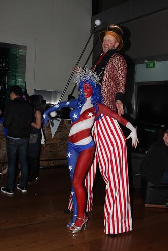American Bodypaint: Zeta Bar by humanstatuebodyart