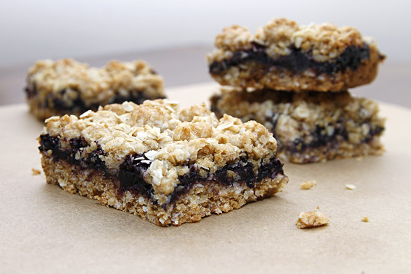 Naturally Sweetened, Whole Wheat, Oatmeal Jam Bars