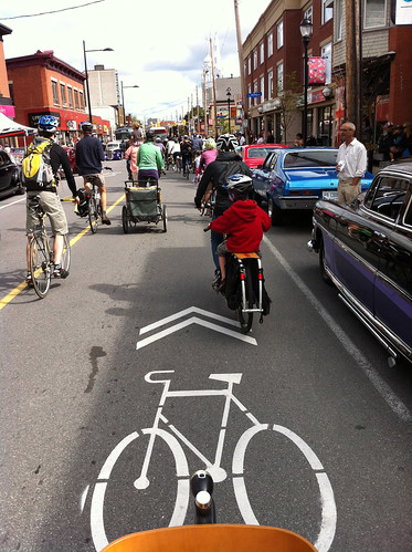 Taste of Wellington West - Bike parade! - New sharrows
