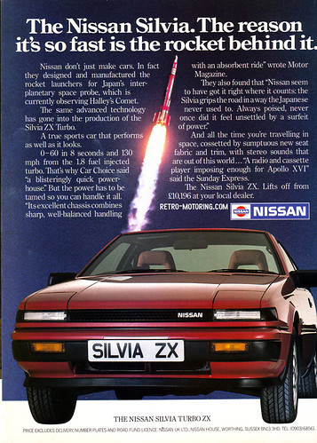 Nissan Silvia Turbo ZX Advert