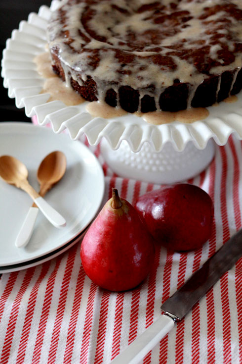 spiced pear cake for made by girl