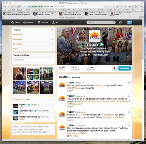 New Twitter Profile Page: TODAY (todayshow) on Twitter by stevegarfield