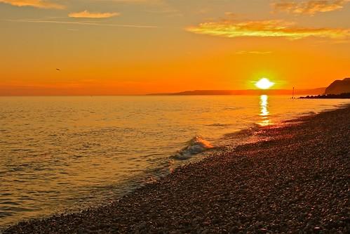 sunset sea sky seascape water clouds canon rocks photos ripple dorset 550d