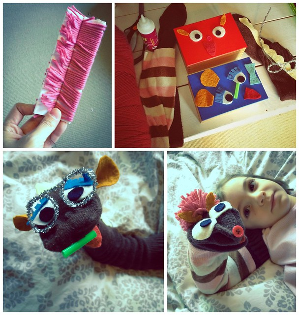 We gathered our supplies and made our puppets