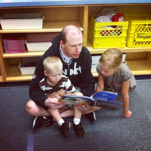 Reading at the school open house #latergram