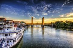 Mooning the Bridge, Old Sacramento, Sacramento CA (C61_3281-3283-cus-LR-NS-PS)