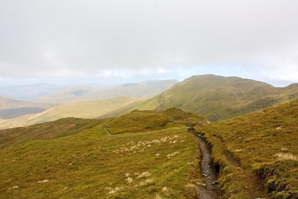 Descent from Beinn nan Eichan