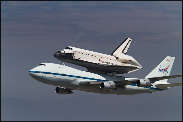 Space Shuttle Endeavour over Los Angeles | Flickr - Photo ...