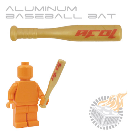 Aluminum Baseball Bat - Gold (red AFOL print)