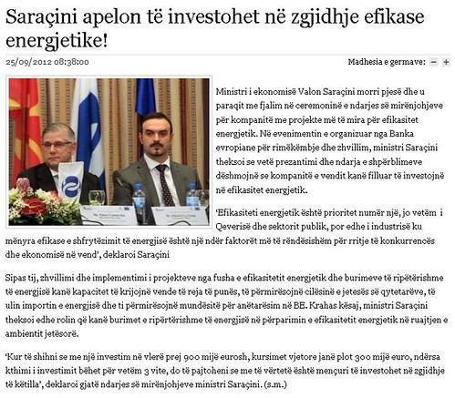 Saraçini apelon të investohet në zgjidhje efikase energjetike!