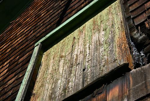Hay loft door