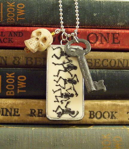Skeleton Key Charm Necklace