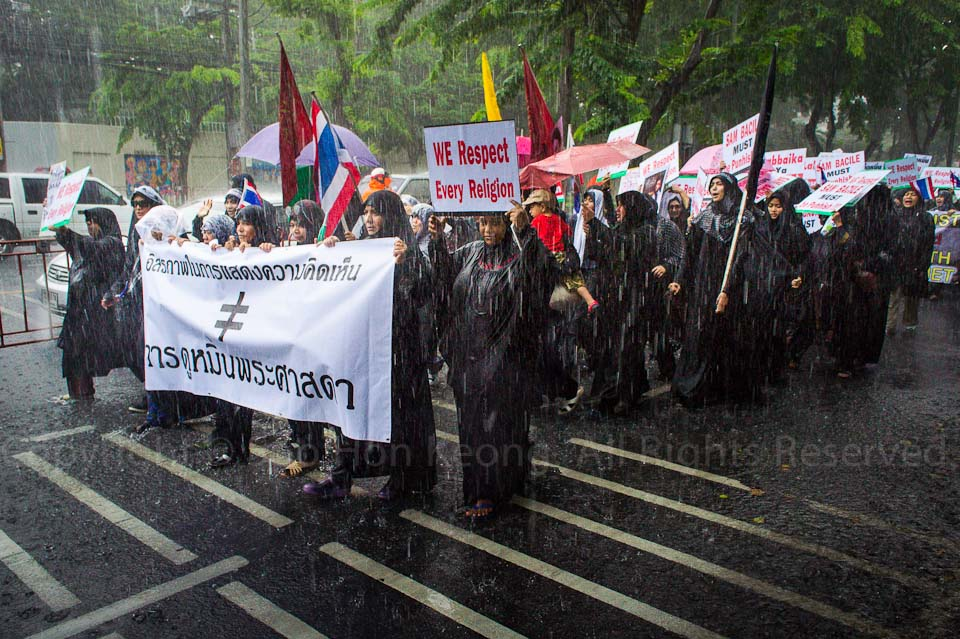 Demo / Protest on Innocence of Muslims Video @ USA Embassy, Bangkok, Malaysia