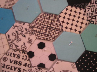 working on some hexagons
