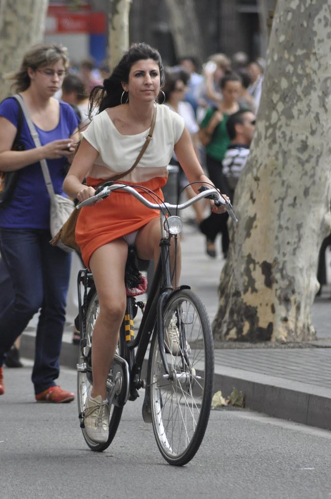 Useful topic Upskirt girls on bicycles well