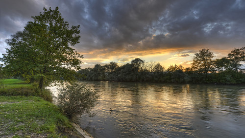 sunset tree water night clouds forest river landscape schweiz switzerland wasser sonnenuntergang cloudy wolken fluss landschaft wald baum hdr reuss rickenbach kantonzürich cantonofzurich ottenbach d800e