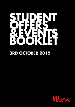 Westfield Stratford City's Student Event Offers Booklet