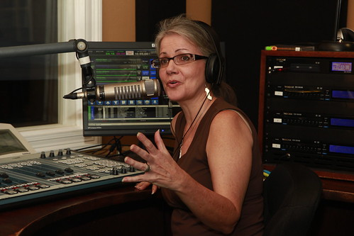 Sally Young hosts during Pledge Drive. Photo Parisa Azadi.