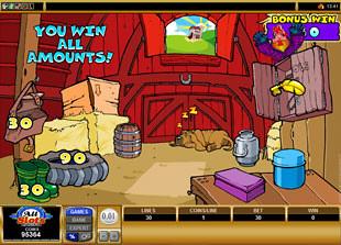 Cashanova Barn Bonus Game