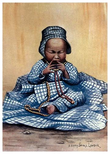 015-Niña tibetana-Tibet & Nepal-1905-A. H. Savage-Landor