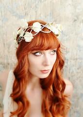 Ivory Bridal Headpiece-vintage pearl crown