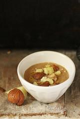 Soupe dechâtaigne et pecorino