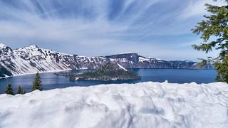 Crater Lake.  Rim Drive, Crater Lake National Park, OR.