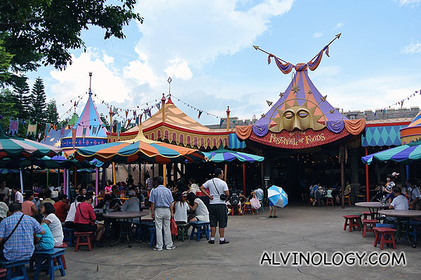 Food area in Fantasyland