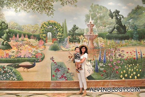 Family fun at hong kong disneyland day 2 morning for Disneyland wall mural