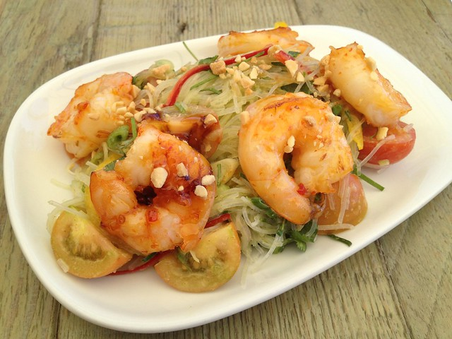 Chile seared shrimp - Jiao