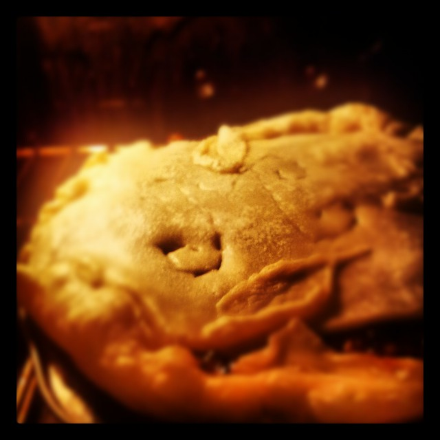 Mince Pie in the Oven