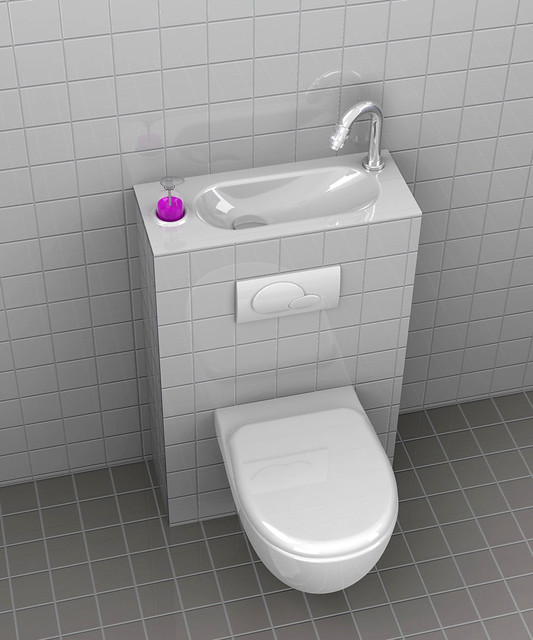 WiCi Batiwc avec lave main intégré  WiCi Bati, WC au