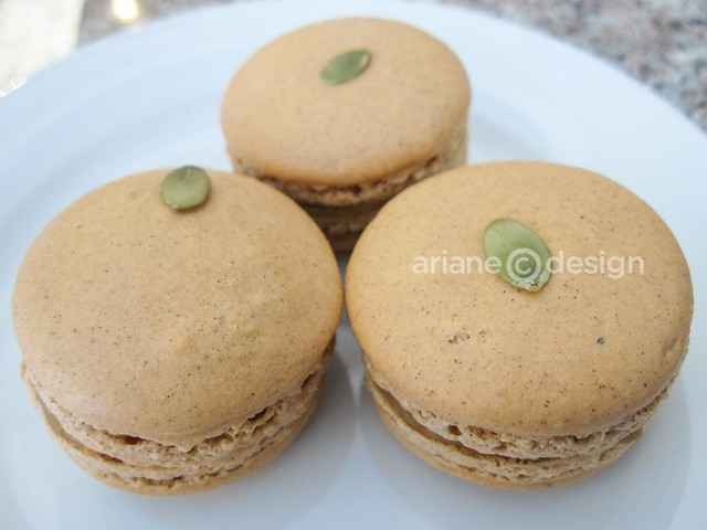 French Made Baking Pumpkin Macarons