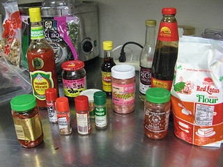Asian ingredients for class at New School of Cooking