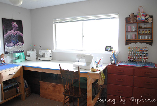 My Sewing Room: Sewing Table and Ironing Dresser