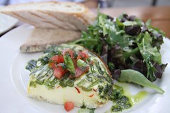 Mr T\'s spinach quiche