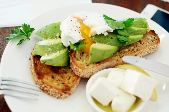 poached egg avocado breakfast