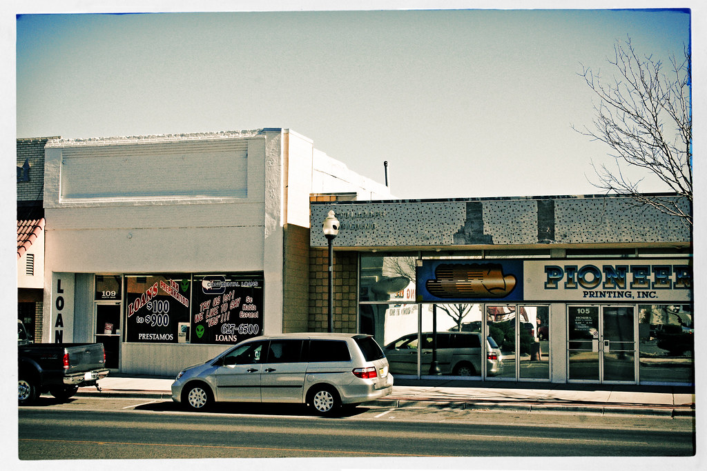 Roswell, New Mexico, Loan Store and Pioneer Printing by Juli Kearns (Idyllopus)