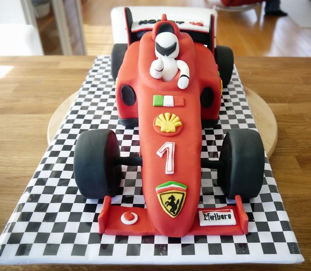taart ferrari Formule1 Ferrari race taart (Pagina 1)   3D taarten  taart ferrari