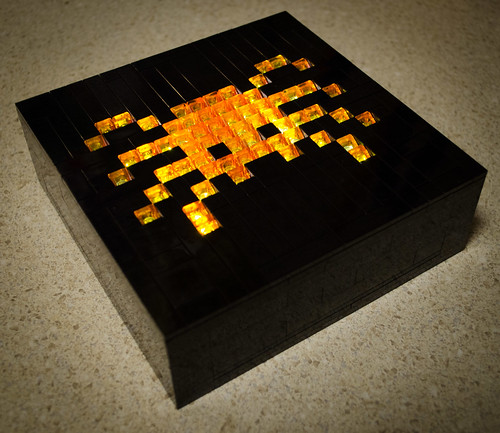 Lego spider light box mosaic