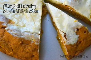 pumpkin cream cheese snack cake