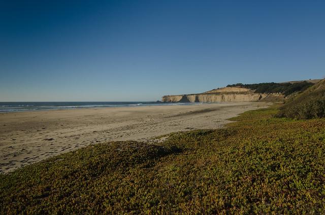 Beach south of Half Moon Bay