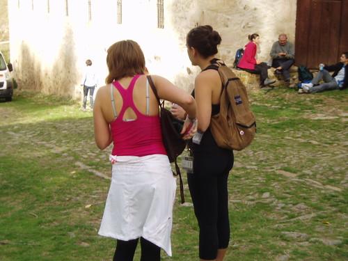 Excursionistas extranjeras haciendo la Travesía