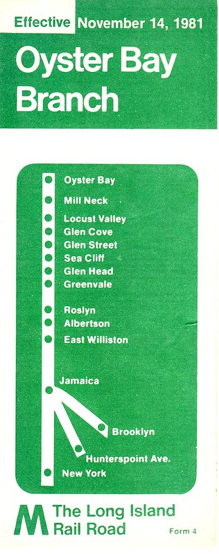 LIRR Oyster Bay Branch 1981 Cover
